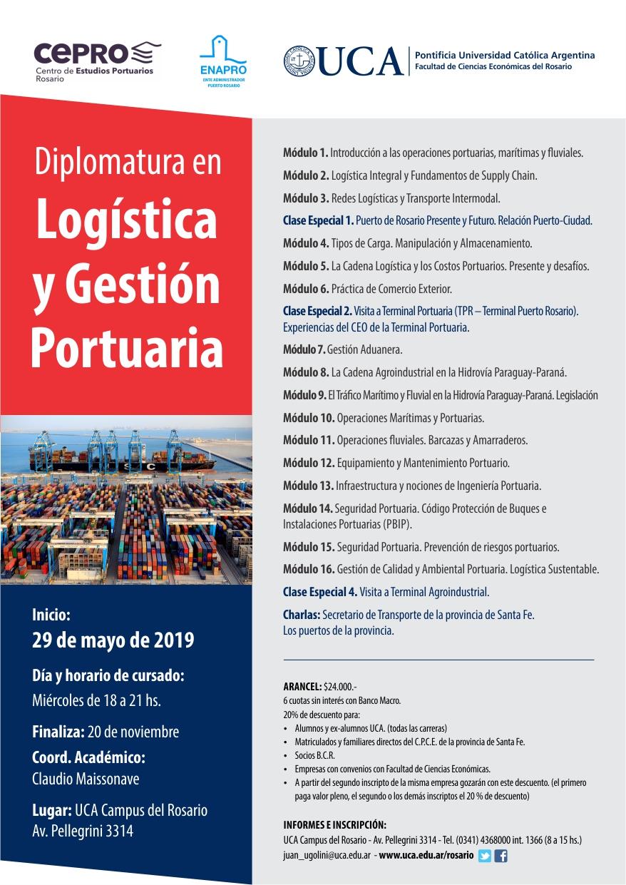 Uca Calendario Academico.Diplomatura En Logistica Y Gestion Portuaria Campus